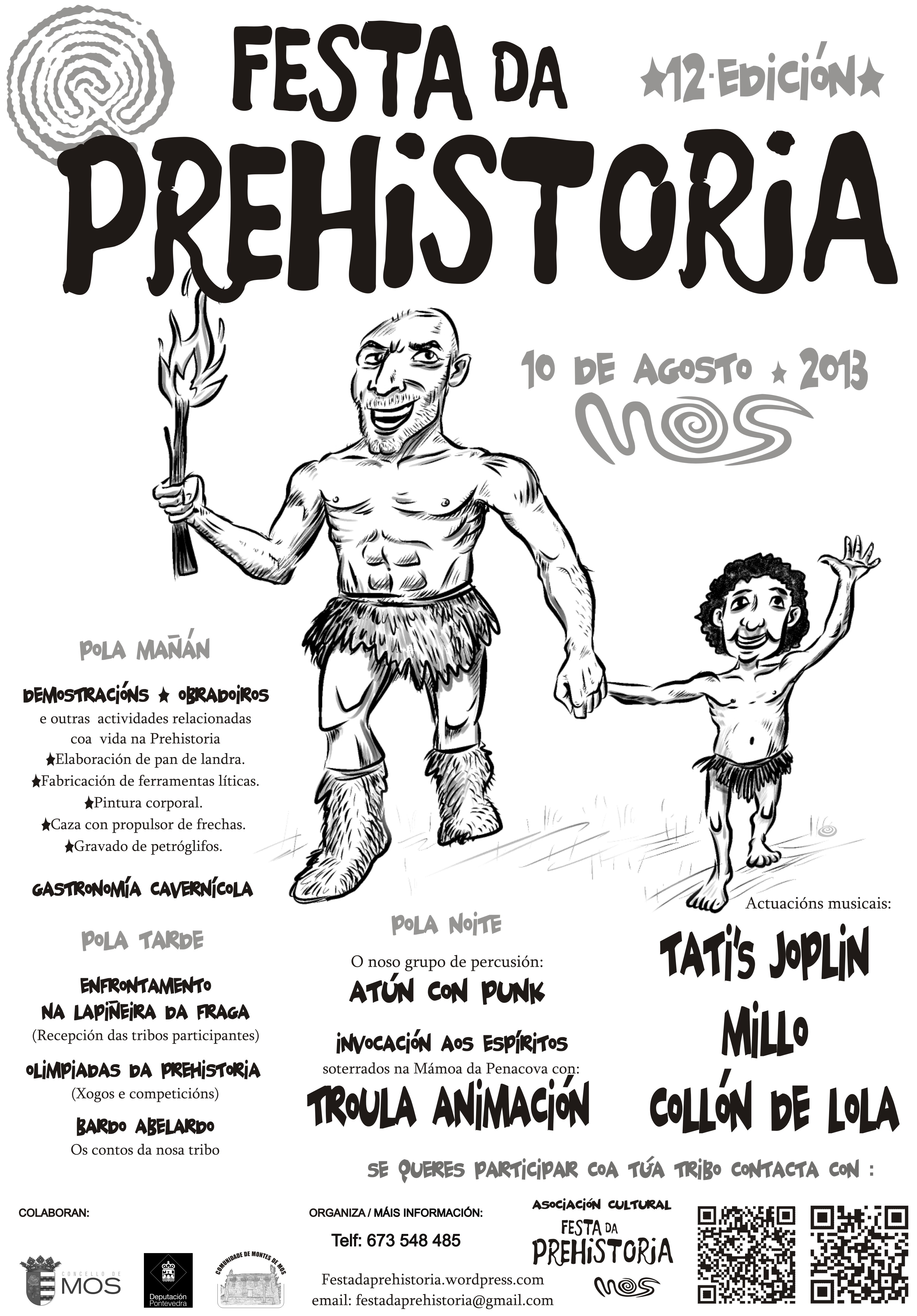 O cartel da Festa 2013. Festa da Prehistoria de Mos
