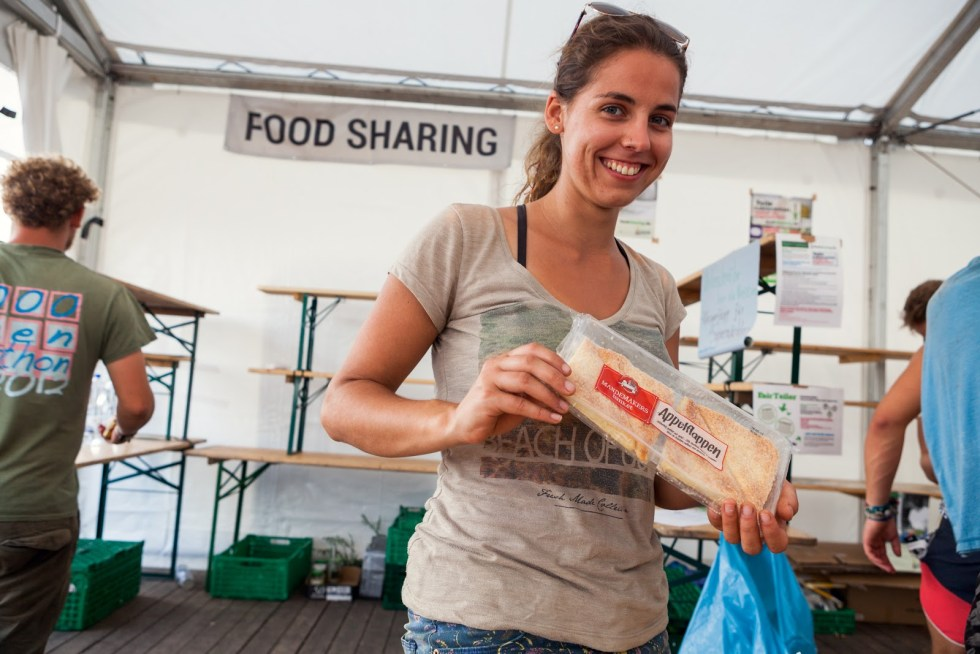 foodsharing Zelt auf Festivals