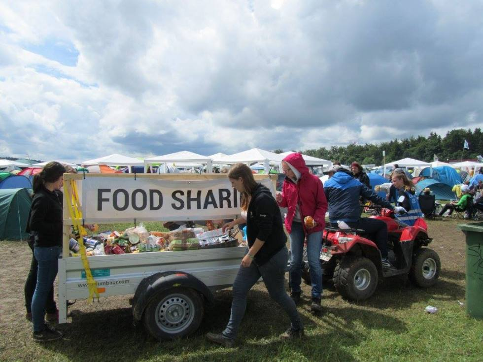 foodsharing mobil auf Festivals