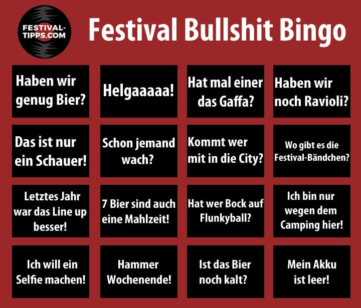 Infografik Festival Bullshit Bingo