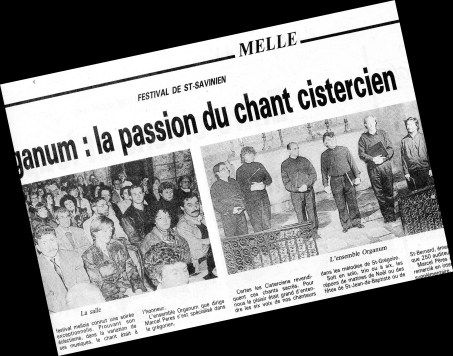 1990 : à l'église Saint-Pierre, l'Ensemble Organum, direction Marcel Peres
