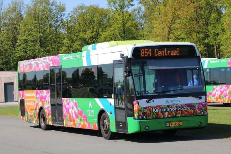 bus vers les jardins de Keukenhof