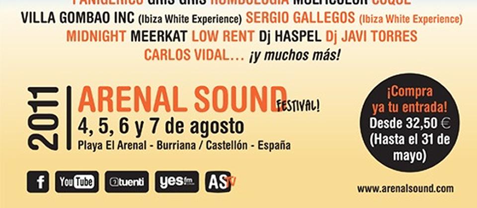Cartel del festival Arenal Sound 2011