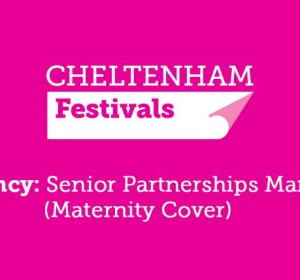 Senior Partnerships Manager (Maternity Cover) - Cheltenham Festivals