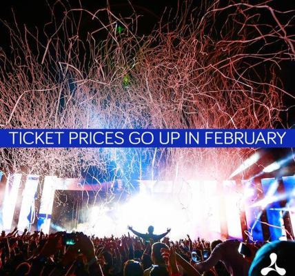 Ticket prices go up in February!  Secure your ticket for a £20 deposit today....