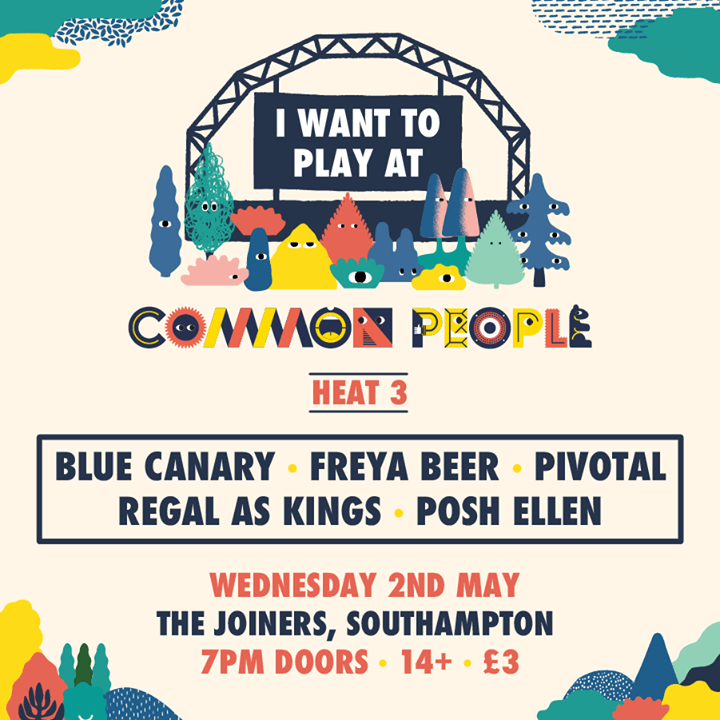 Announcing the final heat of I Want to Play at Common People! Get down to The Jo...