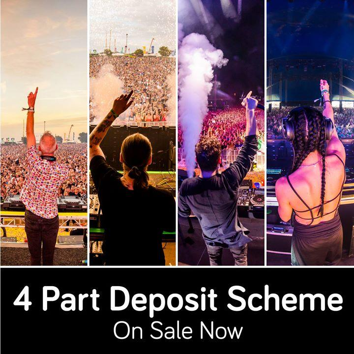 Our 4 part deposit scheme is available now  #Creamfields2018