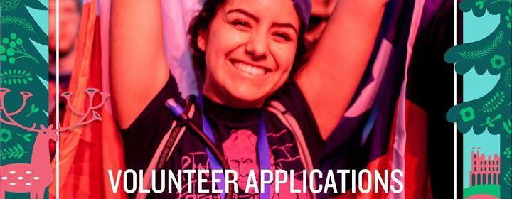 Volunteer Applications are go!...