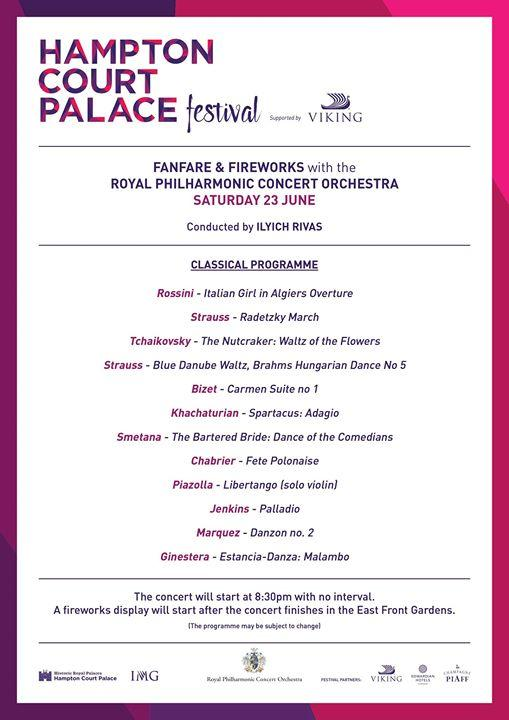 The wait is over… Here is the official classical programme for the Fanfare & Fir...