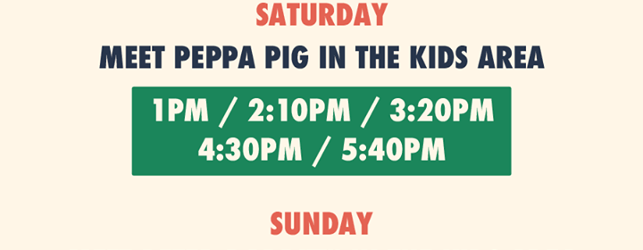 Common people southampton news were ecstatic to announce meet were ecstatic to announce meet greet times with peppa pig on saturday m4hsunfo