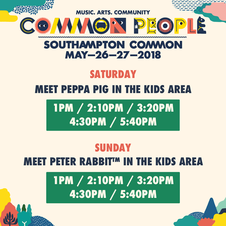Common people southampton news were ecstatic to announce meet common people southampton news were ecstatic to announce meet greet times with peppa pig on saturday peter festival flyer m4hsunfo