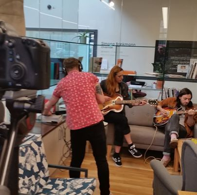 Great day filming live sessions for Wakefield Arts Partnership with Beam @crakeb...