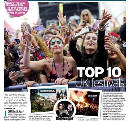 Ramblin' Man made the line up in the Daily Mirror's Mirror Travel's Top 10 UK Fe...