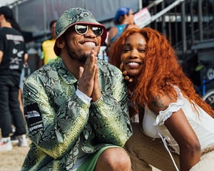 Anderson .Paak and SZA backstage.