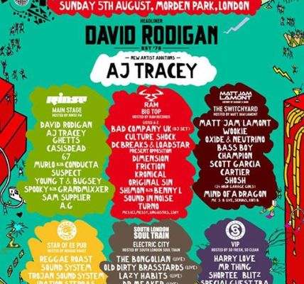 In case you missed it... Kurupt FM & AJ Tracey announced for Sunday!...