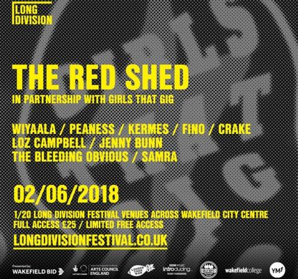 Here's the wonderful line-up for The Red Shed at Long Division in partnership wi...