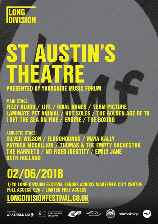 We're very pleased to reveal the full line-up for our stage at St Austins sponso...