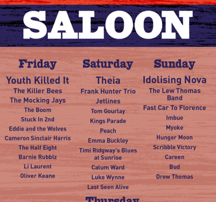 The Slippery Saddle Saloon line up is IN! 