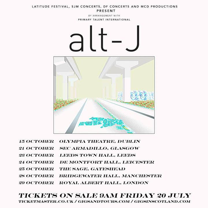 After an incredible headline set on Sunday, alt-J are going on tour this October...