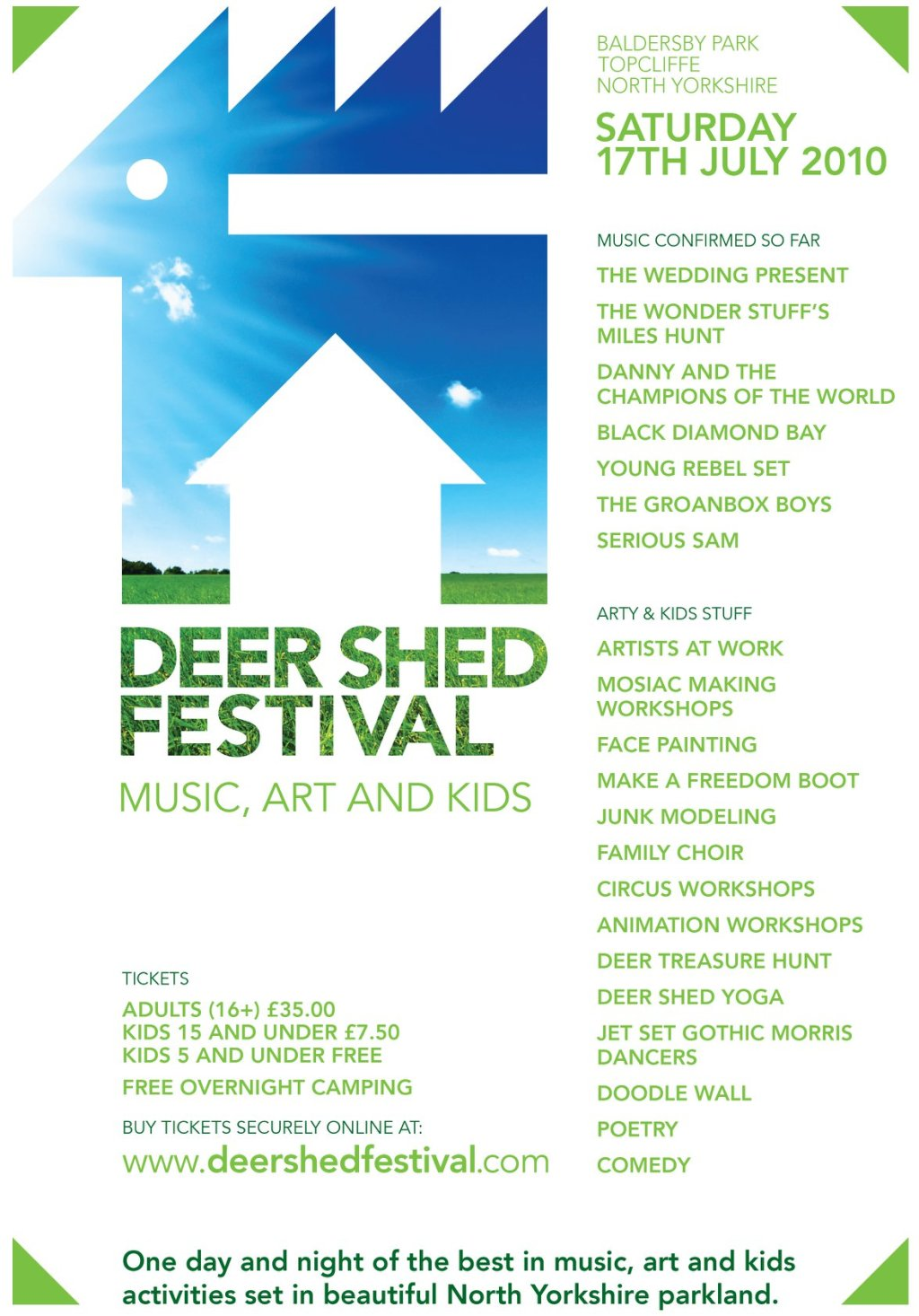 From the archives: the first ever Deer Shed poster from way back in 2010! Who&#0...