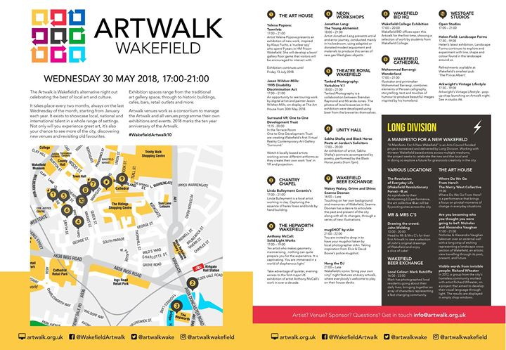 Long Division begins tomorrow night with Wakefield Artwalk. Look at everything t...