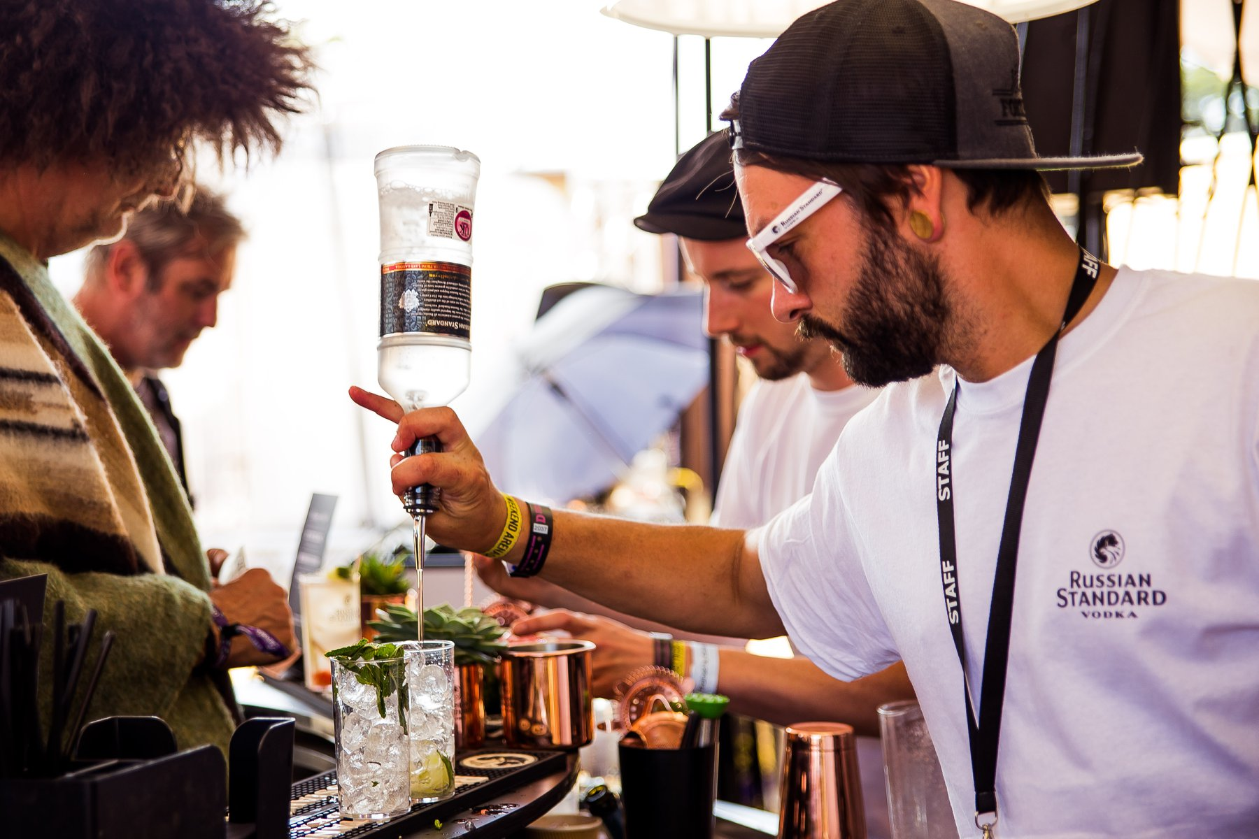 Mule Mixology!  Did you party with Russian Standard cool cocktails at Latitude F...