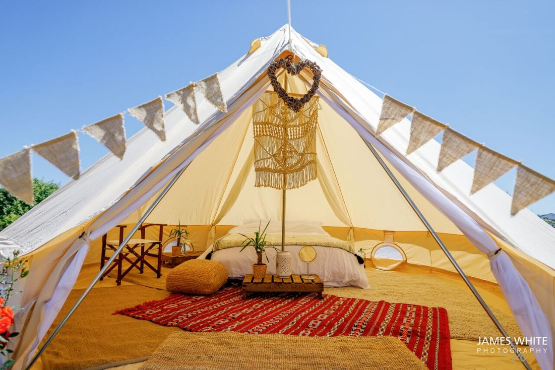 Tee&Toast Glamping | Bell Tent Hire | Teepees | UK | CHAGSTOCK 2019