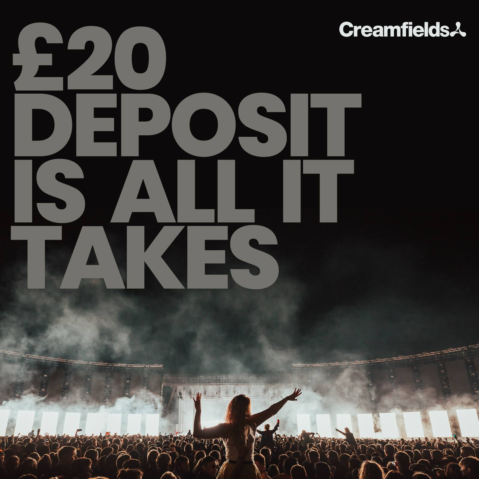 Book #Creamfields2019 now for just a £20 deposit #20IsAllitTakes