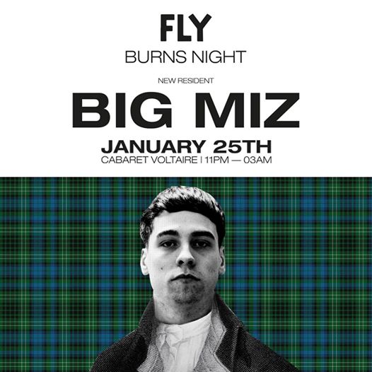 Catch new FLY resident Big Miz playing all night long at our weekly gig at Cabar...