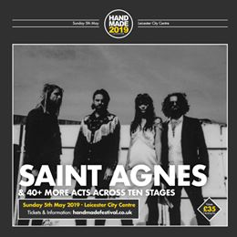 We can't wait for Saint Agnes   at Handmade 2019. Catch them alongside 40+ other...