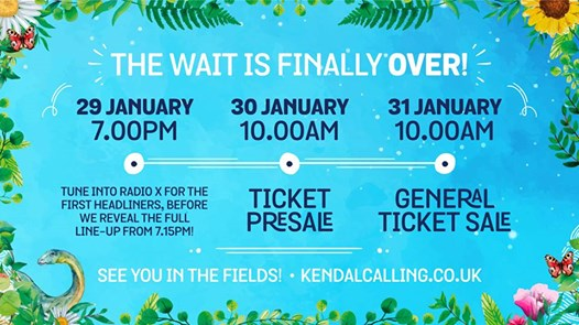 What you've all been waiting for! Kendal Calling 2019 line-up is coming....