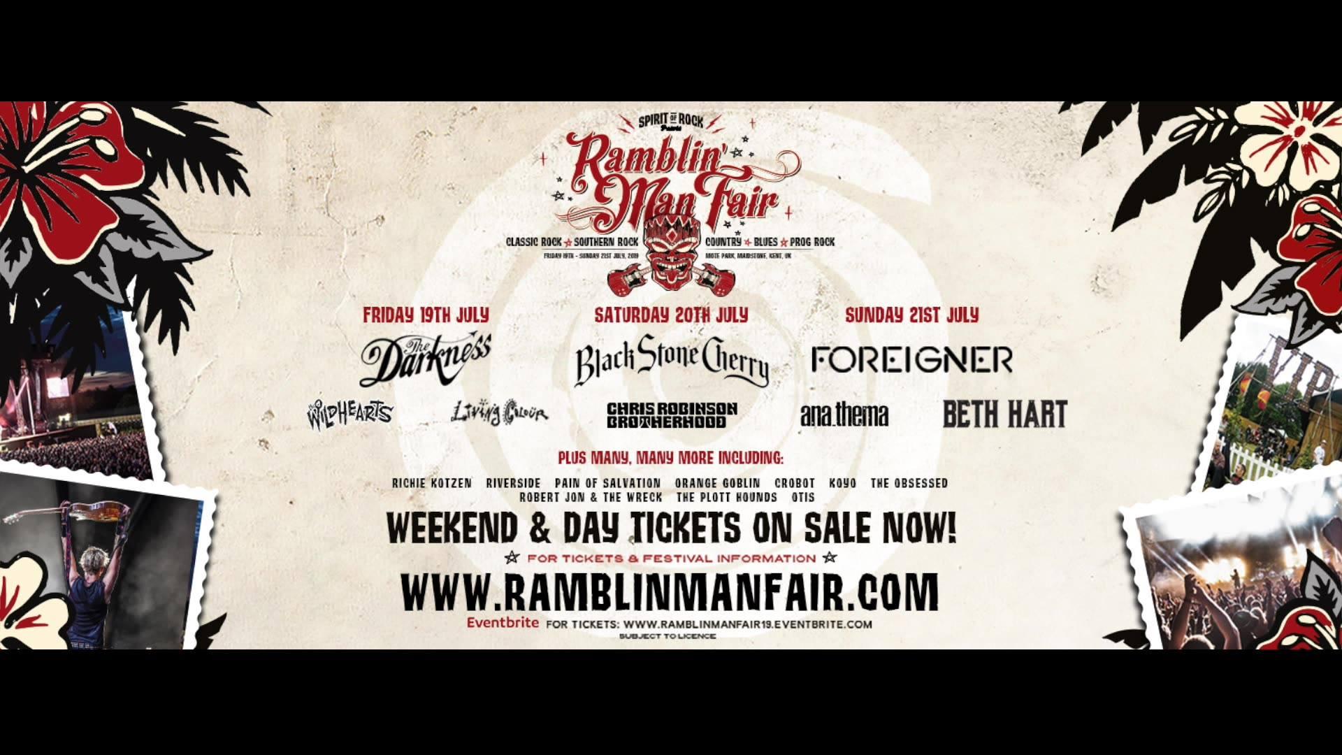 Saturday Night's Ramblin' Man Fair 2019 Headliner is...