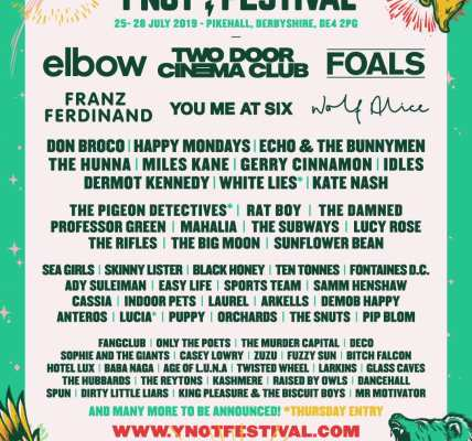 FIRST LINE UP ANNOUNCEMENT