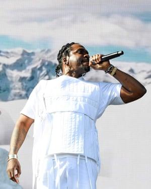'Blatant symbolism for cocaine' ... rapper Pusha T at Coachella.