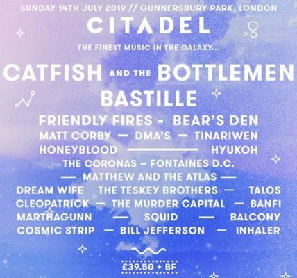 The perfect summer soundtrack at #Citadel19   Provided by Catfish and the Bottle...