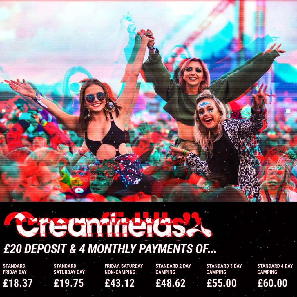 #Creamfields2019 £20 is all it takes…...