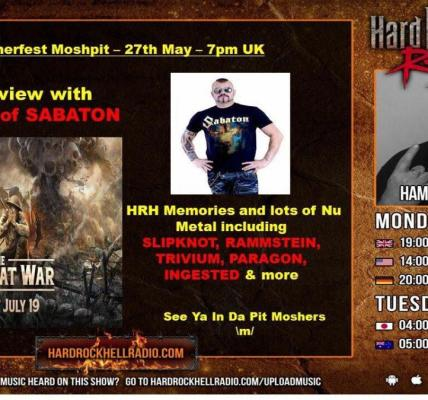 Tune in to The Hammerfest Moshpit Show with Ron Morrow tonight at 7pm on Hard Ro...
