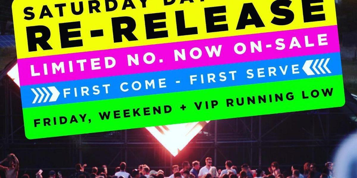 We have a limited no. of re-release SATURDAY DAY tickets on sale NOW - when the...