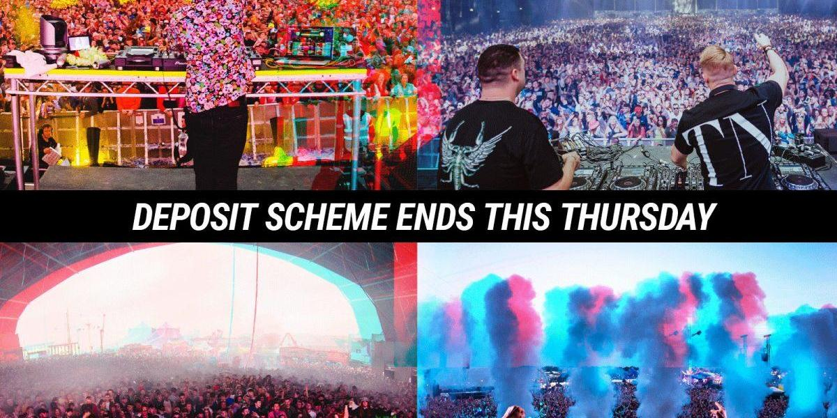 #Creamfields2019 2 part deposit scheme ends 11pm this Thursday....