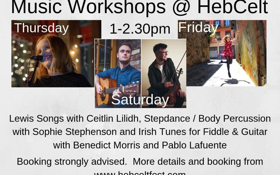 A series of great workshop experiences put together for #HebCelt by An Lanntair....