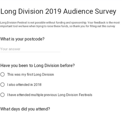 So... would you like to see a Long Division Festival in 2020?...
