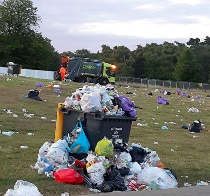 Pictures show Splendour mess left at Wollaton Park