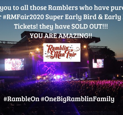 A  HUGE thank you to all those Ramblers who purchased their Early Bird Tickets t...