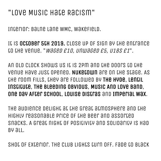 Couldn't find anyone to make us a poster for the upcoming Love Music Hate R...