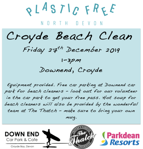We've booked in a beach clean for between Christmas and New Year!...