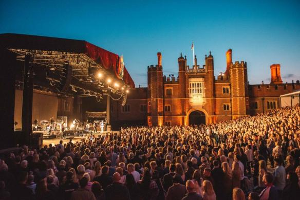 The stage, the crowd, the artists. Experience the magic of Hampton Court Palace ...