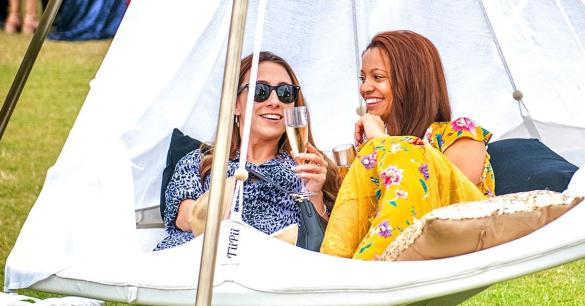 Sipping champagne in a hammock - just another day at Henley Festival    What are...