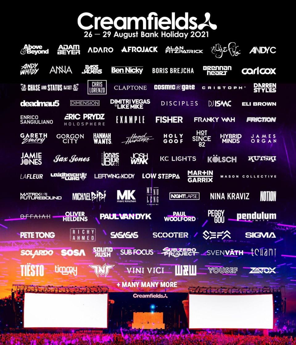 JUST ANNOUNCED! #Creamfields2021 just got even bigger with over 20 new artists a...