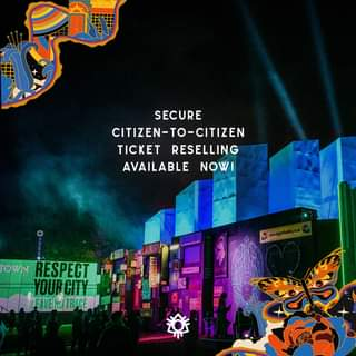 """May be an image of text that says """"SECURE CITIZEN-TO-CITIZEN TICKET RESELLING AVAILABLE NOW! RESPECT YOURCITY"""""""