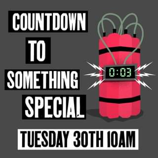 "May be an image of text that says ""0:03 COUNTDOWN TO SOMETHING SPECIAL TUESDAY 30TH IOAM"""